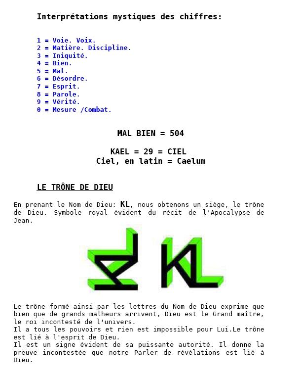 Très Les élus de Dieu - Kabbal Française BS18